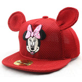 Mickey Mouse and Minnie Mouse Summer Mesh Snapback Caps