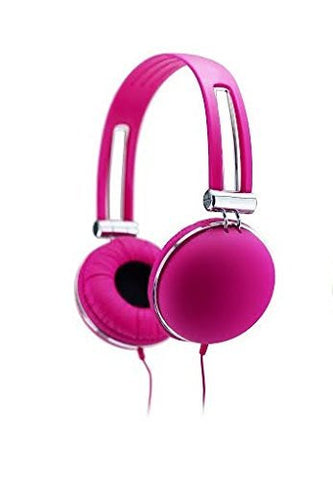 Sentry Retro High Performance Stereo Headphones - Pink