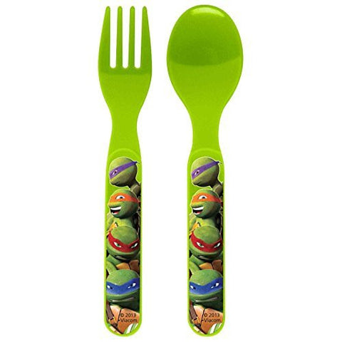 Zak! Teenage Mutant Ninja Turtles Flatware Set of 2 (Fork and Spoon)