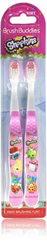 Brush Buddies 2 Piece Shopkins Toothbrush
