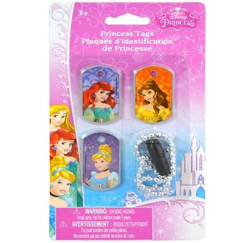 Disney Princess Dog Tag Necklace - Under $10 Toys, Gifts and Accessories For Kids - Little TroubleMakers | Kids Toys and Fashion