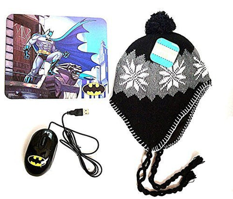 Batman Mouse, Mouse Pad, and Peruvian Beanie Combo