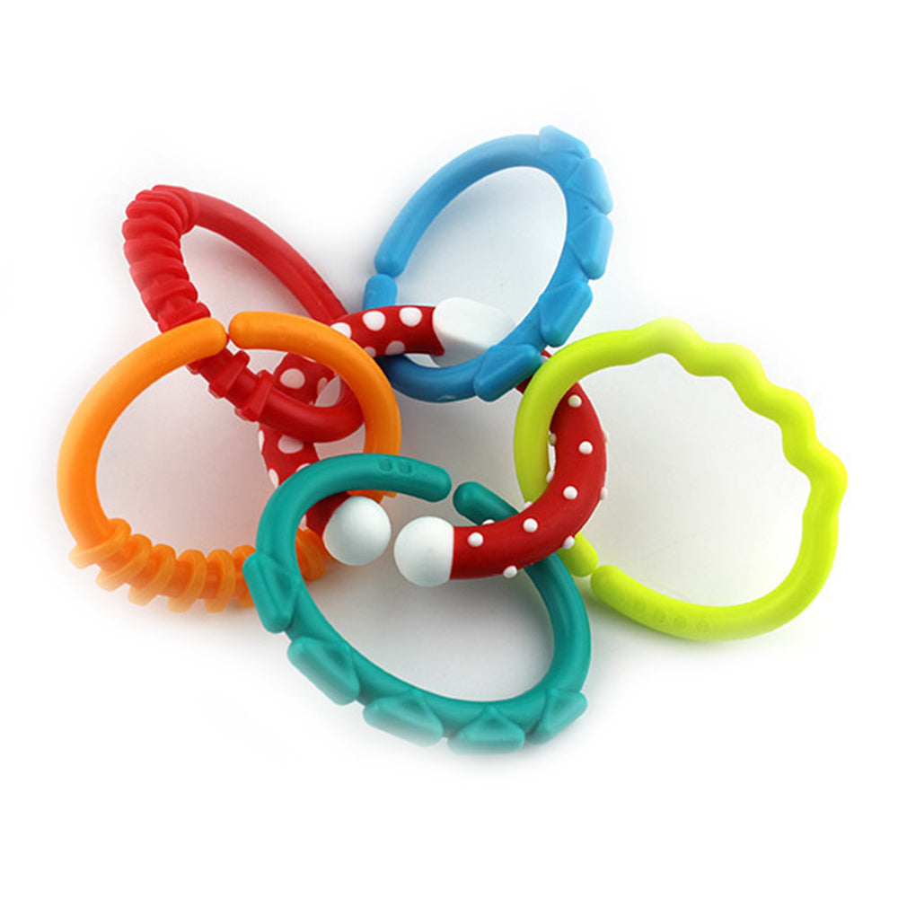 6-Pcs Rainbow Baby Teething Gum Soother - Little TroubleMakers | Kids Toys and Fashion