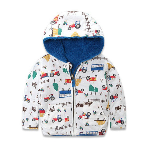 Reversible Hooded Jacket for Boys