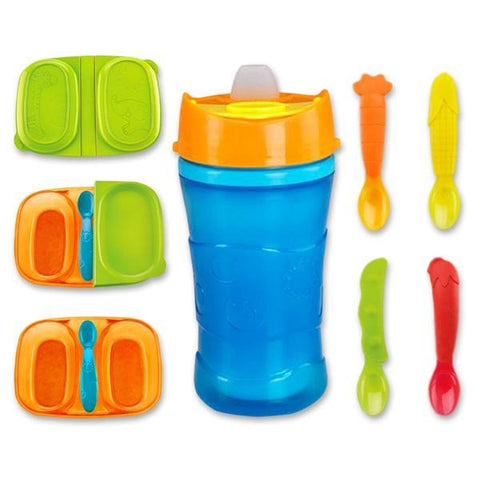 Fisher Price Meal on the go Sippy cup and Easy-Grip Spoons