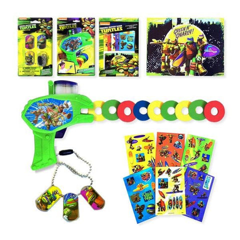 Foam Disc Shooters and Dog Tags for Kids - Ninja Turtle