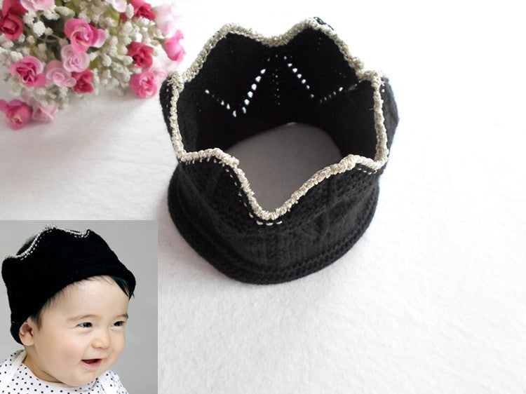Knitted Crown Beanie - Little TroubleMakers  b37ff7eead7