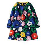 Girls Floral Long Sleeve Dress - Little TroubleMakers | Kids Toys and Fashion