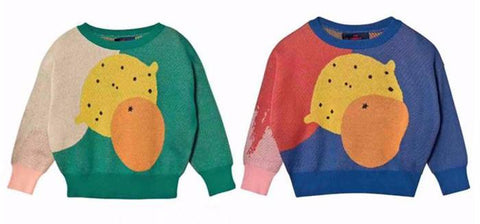 Knit Fruit Design Pullover Sweaters