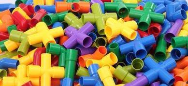 Colorful Tube Tunnel Building Blocks - 72 Piece