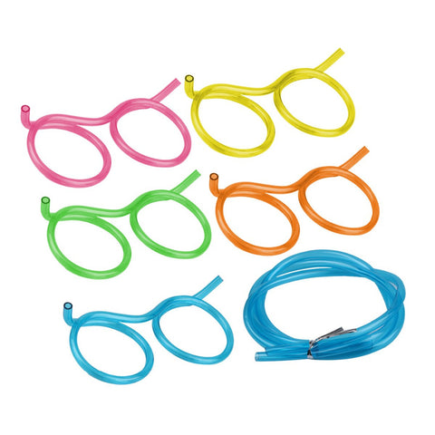 Funny Glasses Drinking Straws