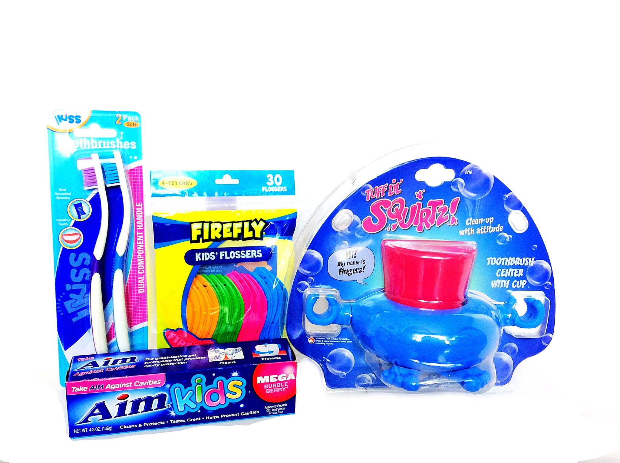 Tuff Lil Squirtz Tooth Brush Center Set - Little TroubleMakers