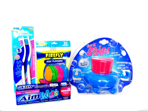 Tuff Lil Squirtz Tooth Brush Center Set