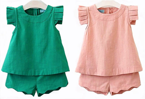 Spring & Summer Shirt & Shorts Set for Girls