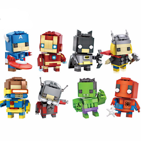 Marvel Avengers Superhero Minifigures Assembly Toys