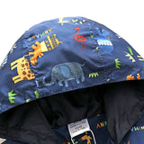Zoo Animals Windbreaker Hooded Zip-up Jacket - Little TroubleMakers | Kids Toys and Fashion