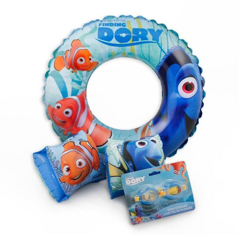 Disney Pixar Finding Dory Inflatable Ring Arm Floats and Goggles