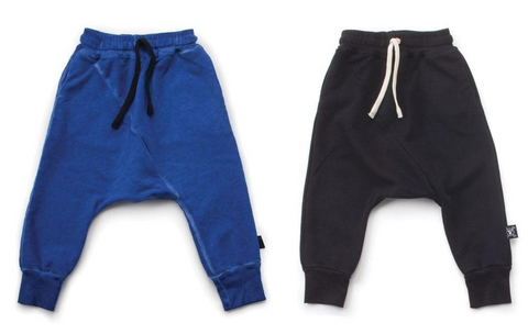 Diagonal Drop-Crotch Harem Trousers for Boys