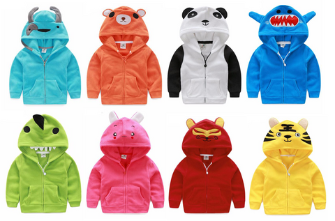 LiL' Creatures Hooded Zip-up Fleece Jacket for Kids
