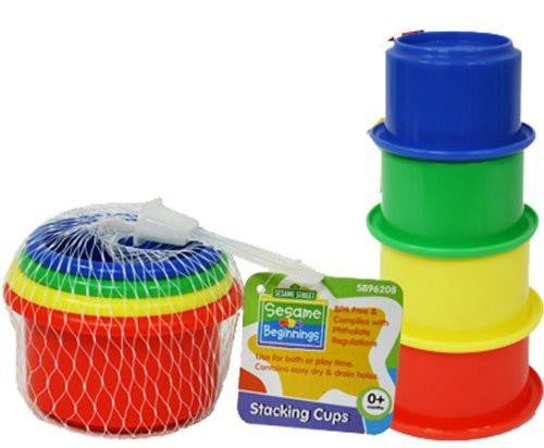 Stacking Cups Toy - Sesame Beginnings - Little TroubleMakers | Kids Toys and Fashion