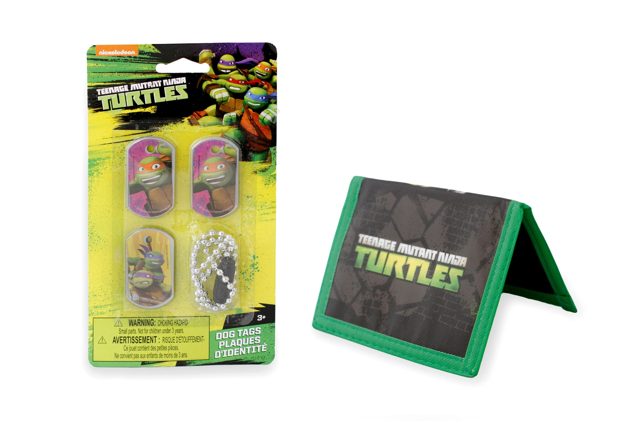 Teenage Mutant Ninja Turtles Dog Tags and Woven Wallet - Little TroubleMakers