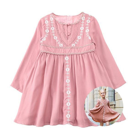 Pink Rabbit Ears Hooded Long Sleeve Dress for Girls Out of stock. QUICK  VIEW. Victorian Princess Embroidery Dress - Little TroubleMakers Kids Toys    Fashion dff13f486