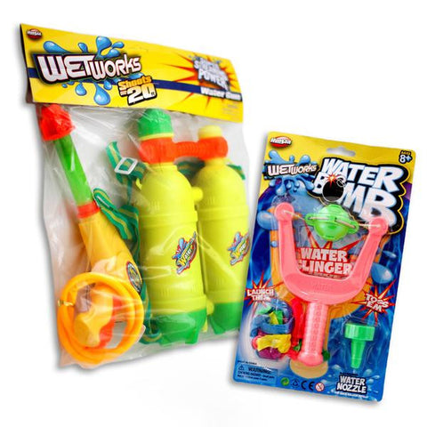 Water Gun With Backpack Tank and Water Balloon Slingshot