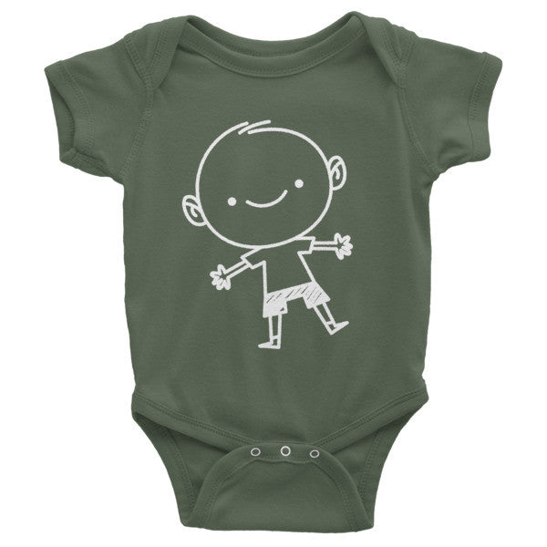 Infant Short Sleeve Onesie - Little TroubleMakers | Kids Toys and Fashion