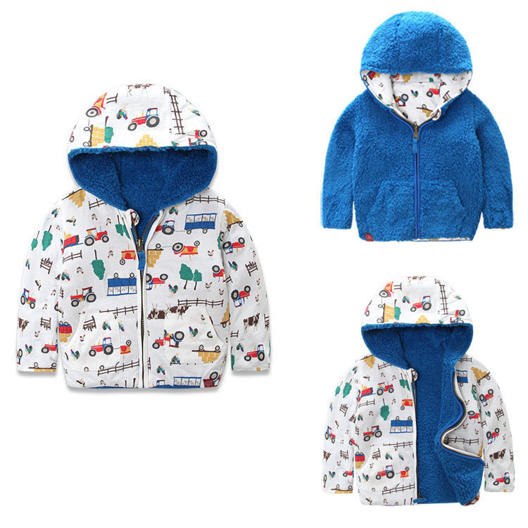 Little TroubleMakers Kids Toys and Fashion _ Reversible Hooded Jacket for Boys