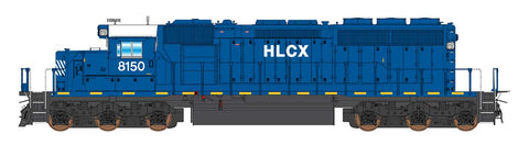 Intermountain SD40-2 Helm Leasing (HLCX) Blue 49376 with ESU Lokpilot DCC (Non-Sound)