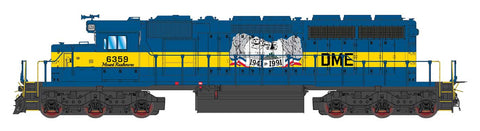 "Intermountain SD40-2 Dakota, Minnesota, & Eastern (DME) ""Mount Rushmore"" 49383(S) with Factory ESU Loksound"