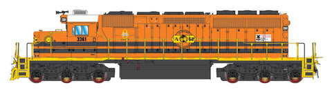 Intermountain SD40-2 Genesee & Wyoming: Alabama & Gulf Coast 49392 with ESU Lokpilot DCC (Non-Sound)