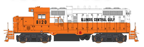 Intermountain GP10 Illinois Central Gulf (Orange/White) 49802(S) with ESU Loksound