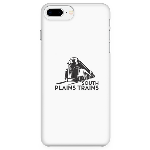 South Plains Trains Phone Case in Stark White for Multiple Phone Models