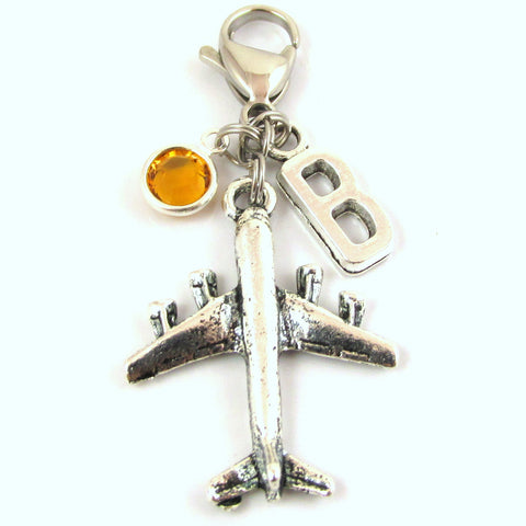 Personalized Airplane Zipper Pull