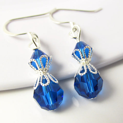Blue Bead Earrings