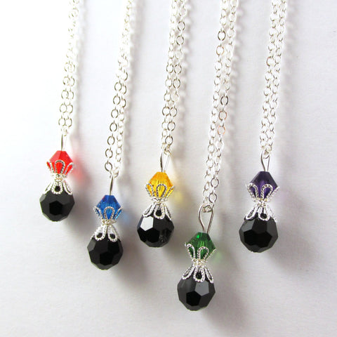 Bead Necklace- top bead is your color choice