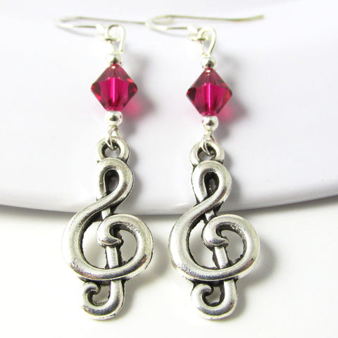 Treble Clef Earrings I