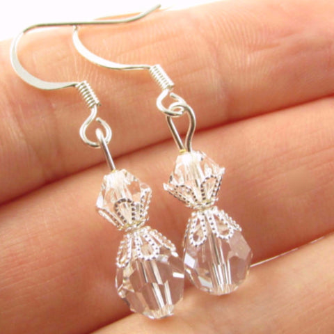 Clear Bead Earrings
