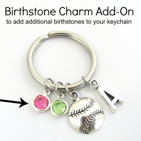 KEYCHAIN ADD-ON: Swarovski Crystal Birthstone Charm