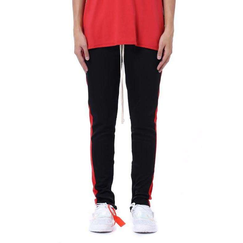 RETRO PANTS - BLACK / RED