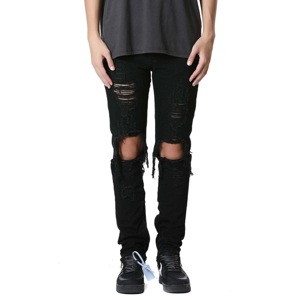 DESTROYED DENIM V2 - BLACK - DSRCV