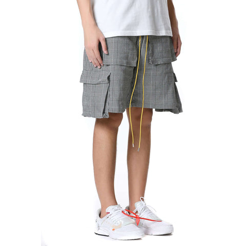 CARGO CHECK SHORTS - GREY