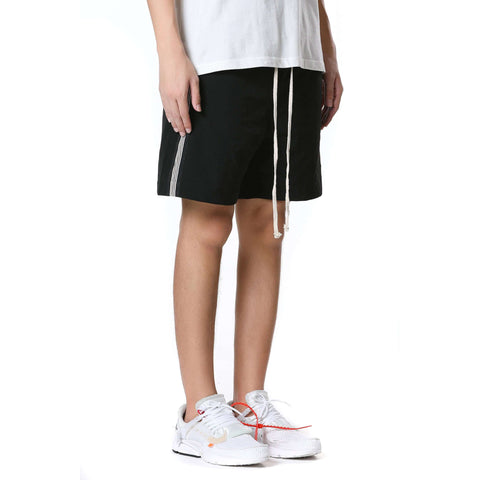 STRIPED SHORTS - BLACK