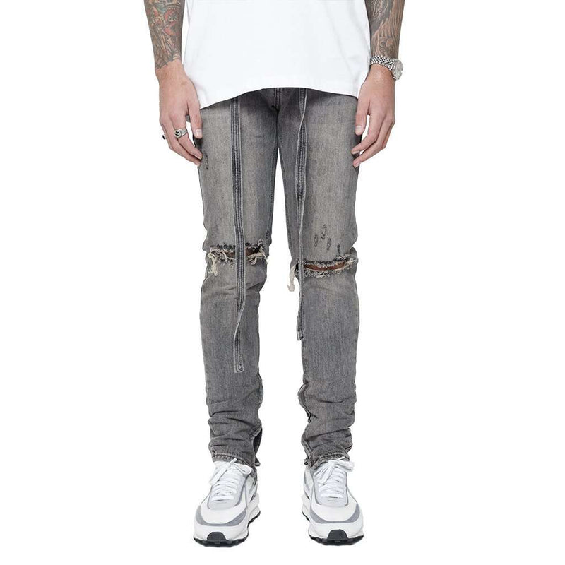 DESTROYED REVERSE DENIM - GREY - DSRCV