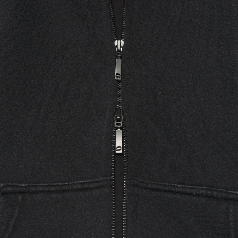 ZIP HOODIE - WASHED BLACK - DSRCV