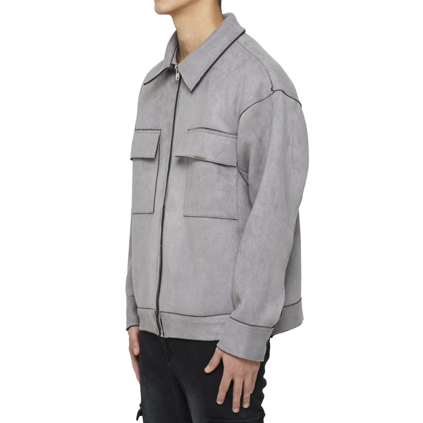 WORK SUEDE JACKET - GREY - DSRCV