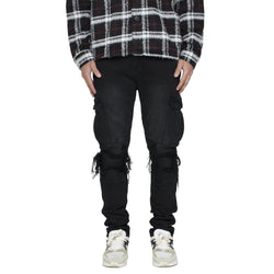 BIKER CARGO DENIM - VINTAGE BLACK