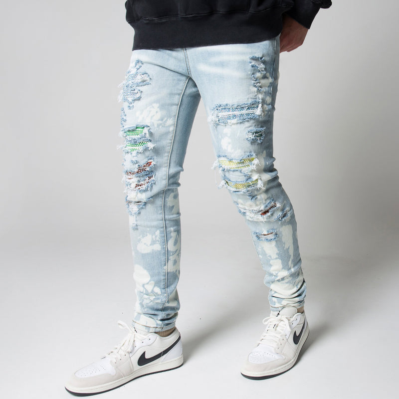 BLEACHED DIAMOND DENIM - SKY INDIGO - DSRCV