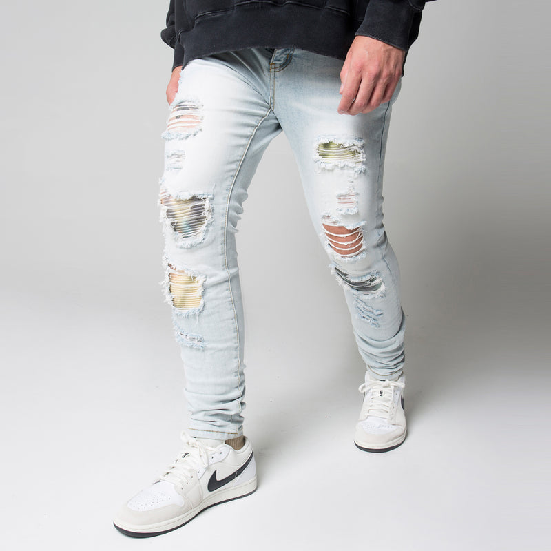 PATCH DENIM - STONEWASH BLUE - DSRCV